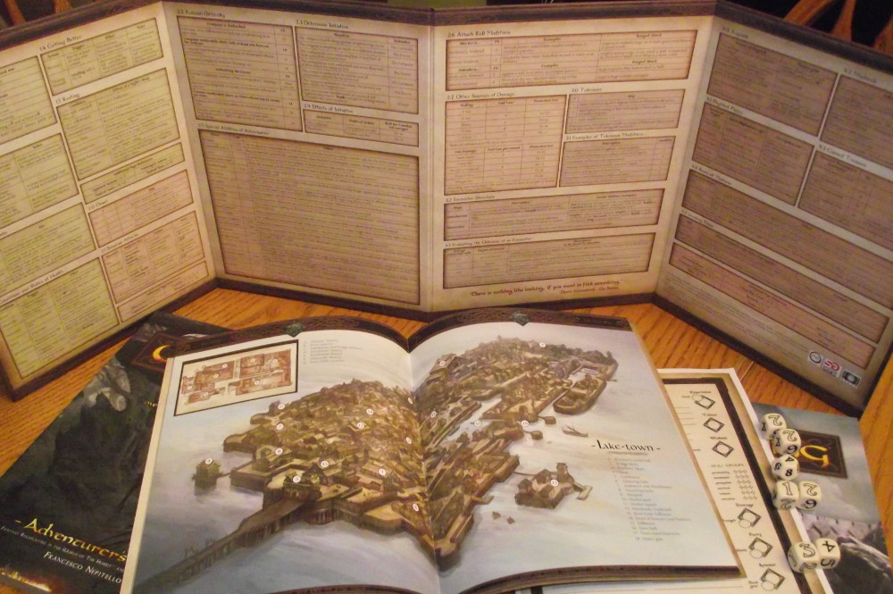 The Loremaster's Screen, and a few of the sourcebooks.