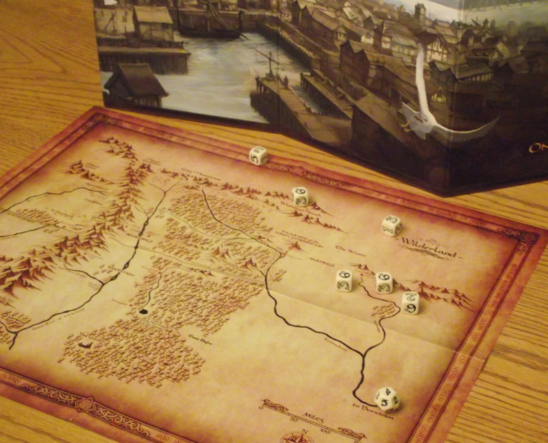 Region map and dice.