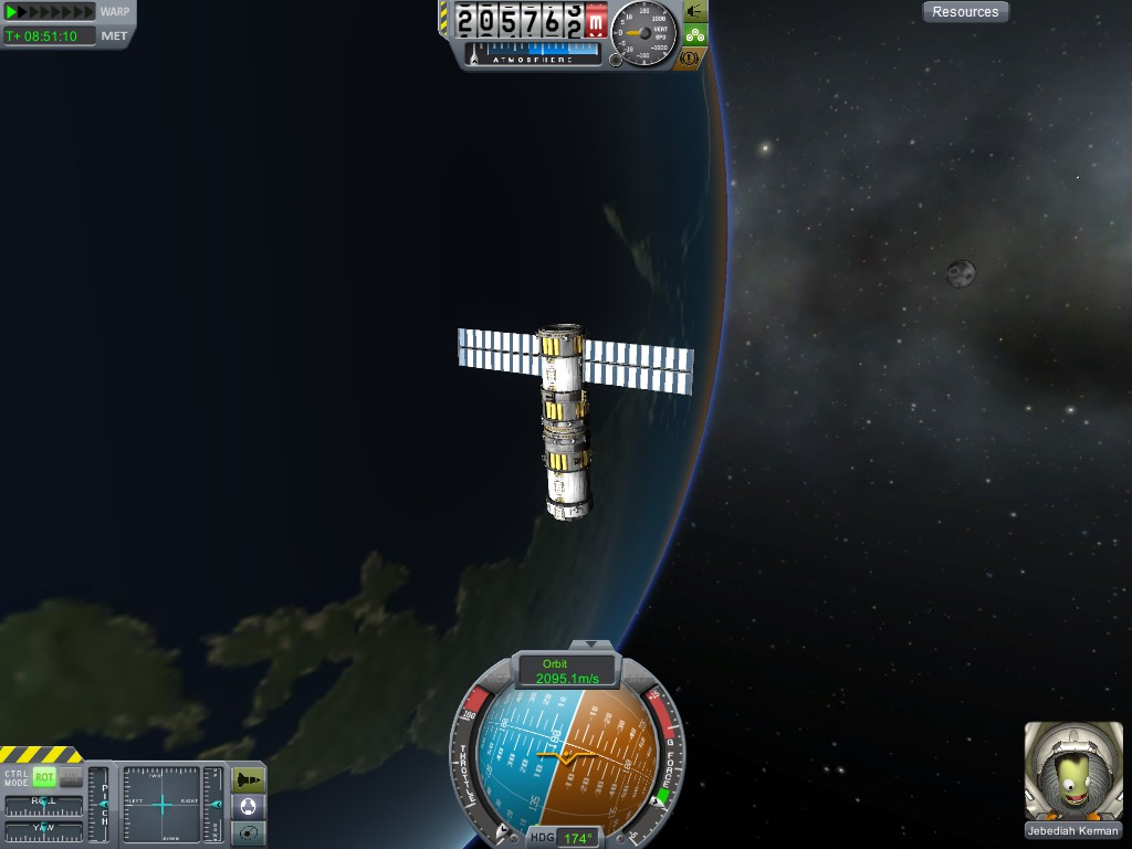 Yay!  It even looks like a space station.  I've got no actual use for all that solar electricity, though.  The panels just look cool.